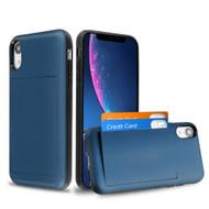 Stash Credit Card Hybrid Armor Case for iPhone XR - Navy Blue