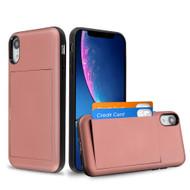 *Sale* Stash Credit Card Hybrid Armor Case for iPhone XR - Rose Gold