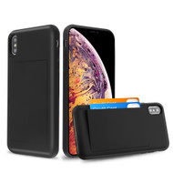 Stash Credit Card Hybrid Armor Case for iPhone XS Max - Black