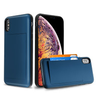 Stash Credit Card Hybrid Armor Case for iPhone XS Max - Navy Blue