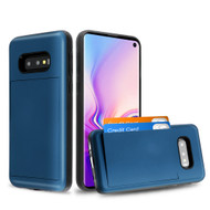Stash Credit Card Hybrid Armor Case for Samsung Galaxy S10e - Navy Blue