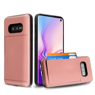 Stash Credit Card Hybrid Armor Case for Samsung Galaxy S10e - Rose Gold