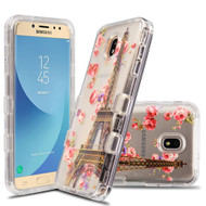 Military Grade Certified TUFF Lucid Transparent Case for Samsung Galaxy J7 (2018) / J7 Refine / J7 Star - Paris