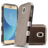 Military Grade Certified TUFF Lucid Transparent Hybrid Case for Samsung Galaxy J7 (2018) / J7 Refine / J7 Star - Smoke