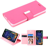 *Sale* Xtra Series Essential Leather Wallet Stand Case for LG K40 - Hot Pink