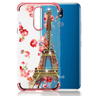 *Sale* TUFF Klarity Lux Diamond Electroplating Transparent TPU Case for LG K40 - Paris in Full Bloom