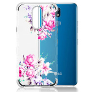 *Sale* TUFF Klarity Lux Diamond Electroplating Transparent TPU Case for LG K40 - Romantic Love Flowers