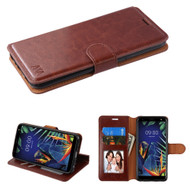 *Sale* Element Series Book-Style Leather Folio Case for LG K40 - Brown