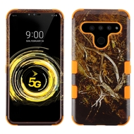 Military Grade Certified TUFF Hybrid Armor Case for LG V50 ThinQ - Tree Camouflage Orange