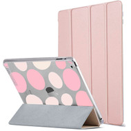 All-In-One Smart Hybrid Case for iPad 9.7 (2018/2017) - Polka Dots Rose Gold