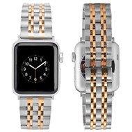 Classic Stainless Steel Bracelet Watch Band with Butterfly Lock for Apple Watch 44mm / 42mm - Silver Gold