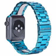 *Sale* Classic Stainless Steel Bracelet Watch Band with Butterfly Lock for Apple Watch 44mm / 42mm - Blue