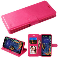 *Sale* Element Series Book-Style Leather Folio Case for LG K40 - Hot Pink