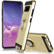 *Sale* Sports Hybrid Armor Case with Smart Loop Ring Holder for Samsung Galaxy S10 5G - Gold