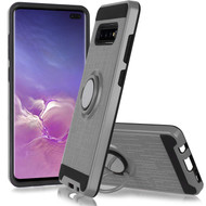 *Sale* Sports Hybrid Armor Case with Smart Loop Ring Holder for Samsung Galaxy S10 5G - Grey