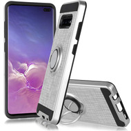 *Sale* Sports Hybrid Armor Case with Smart Loop Ring Holder for Samsung Galaxy S10 5G - Silver