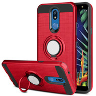 *Sale* Sports Hybrid Armor Case with Smart Loop Ring Holder for LG K40 - Red