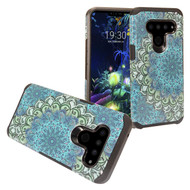 *Sale* Hybrid Multi-Layer Armor Case for LG V50 ThinQ - Blue Flower