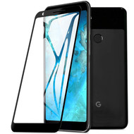 Full Coverage Premium 2.5D Round Edge HD Tempered Glass Screen Protector for Google Pixel 3a - Black