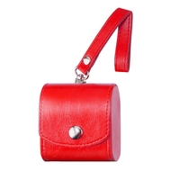 Leather Protective Case for Apple AirPods - Red