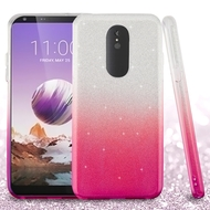 *Sale* Full Glitter Hybrid Protective Case for LG Stylo 5 - Gradient Hot Pink