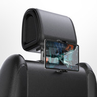 Backseat Headrest Bracket Mount Holder for Smartphones and Tablets - Black