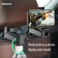 *Sale* 2-IN-1 Backseat Headrest Mobile Phone Mount / Hook - Black