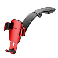 Metal Age Gravity Sensing Auto Lock Car Dashboard Cradle Mount Holder - Red
