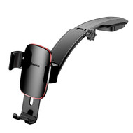Metal Age Gravity Sensing Auto Lock Car Dashboard Cradle Mount Holder - Dark Grey