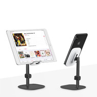 Literary Aluminum Desktop Stand for Smartphone and Tablet - Black