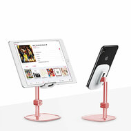 Literary Aluminum Desktop Stand for Smartphone and Tablet - Rose Gold