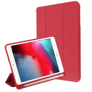 Smart Leather Hybrid Case with Apple Pencil Holder for iPad Mini 5 (5th Generation) / iPad Mini 4 - Red