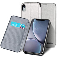 Royal 2 Series Genuine Leather Wallet Case for iPhone XS Max - White