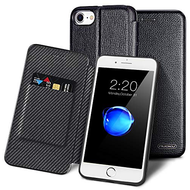 Royal 2 Series Genuine Leather Wallet Case for iPhone 8 / 7 / 6S / 6 - Black