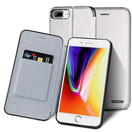 Royal 2 Series Genuine Leather Wallet Case for iPhone 8 Plus / 7 Plus - White