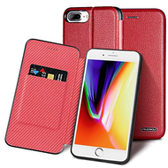 Royal 2 Series Genuine Leather Wallet Case for iPhone 8 Plus / 7 Plus - Red