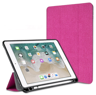 *Sale* Smart Hybrid Case with Apple Pencil Holder for iPad Air 3 / iPad Pro 10.5 inch - Hot Pink