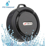 IP65 Waterproof Bluetooth Wireless Speaker with Suction Cup and Carabiner Clip - Black
