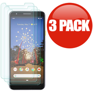 *SALE* HD Premium 2.5D Round Edge Tempered Glass Screen Protector for Google Pixel 3a - 3 Pack