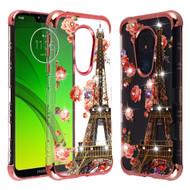 *Sale* TUFF Klarity Lux Diamond Electroplating Transparent TPU Case for Motorola Moto G7 Power / G7 Supra - Paris