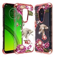 *Sale* TUFF Klarity Lux Diamond Electroplating Transparent TPU Case for Motorola Moto G7 Power / G7 Supra - Crane
