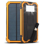 Solar Powered Portable Power Bank Battery Charger 15000mAh with Dual USB Ports