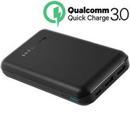 *Sale* Quick Charge 3.0 USB-C Super Speed Portable Power Bank Battery Pack Triple USB Charger 12000mAh - Black