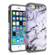 Hybrid Multi-Layer Armor Case for iPhone SE / 5S / 5 - Marble White