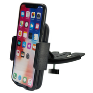 CD Slot Car Cradle Mount Phone Holder - Black