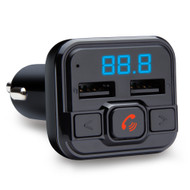 HyperGear IntelliCast Bluetooth FM Transmitter with Dual USB Car Charger - Black