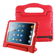 Kids Friendly Light Weight Shock Proof Standing Case with Handle for iPad Mini - Red