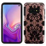 Military Grade Certified TUFF Hybrid Armor Case for Samsung Galaxy S10e - Bud Silk Lace Rose Gold