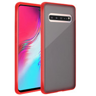Frost Semi Transparent Hybrid Case for Samsung Galaxy S10 5G - Red