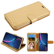 Element Series Book-Style Leather Folio Case for iPhone XR - Gold